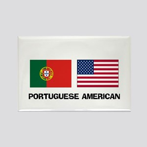 Portuguese American Rectangle Magnet